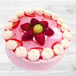 Captivating Strawberry Cake to Allahabad