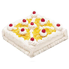 Delicious Eggless Pineapple Cake to India