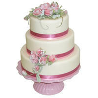 Sweet and Alluring Three-Tier Wedding Cake to Bhopal