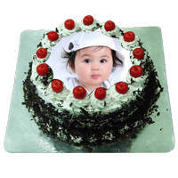 Adorned Ambrosia 1 Kg Black Forest Photo Cake to Agra