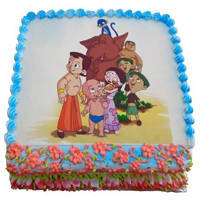 Flavor-Loaded Fun 2.5 Kg Chota Bheem Cake to Guntur