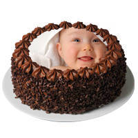 Yummy Wonder 2 Kg Chocolate Photo Cake to Jaipur