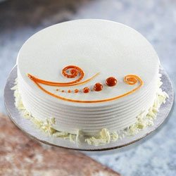Gladness-of-Gobble 1 Lb Vanilla Cake to Guntur