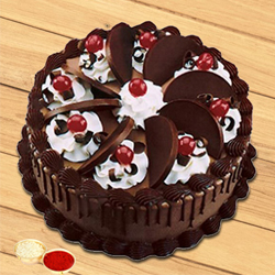Delisious Chocolate Cake with free Roli Tilak and Chawal to Aligarh