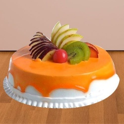 Craving�s Treat 1/2 Kg Fresh Fruit Cake to Ambala