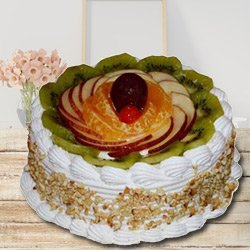 Wonder Bites 1 Kg Fresh Fruit Cake to Amravati