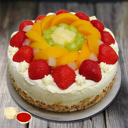 Gourmet�s Grasp 1 Kg Egg-less Fresh Fruit Cake to Barnala