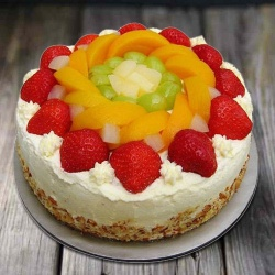 Gourmet�s Grasp 1 Kg Egg-less Fresh Fruit Cake to New Delhi