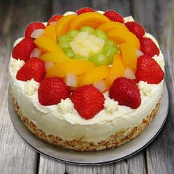Enjoyable 1 Kg Eggless Fresh Fruit Cake to Calcutta