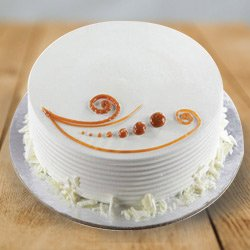 Sumptuous 1 Lb Vanilla Cake from 3/4 Star Bakery to Ahmedabad