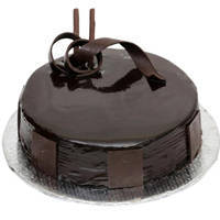 Alluring Selection of 3/4 Star Bakerys 1 Lb Dark Chocolate Cake to Ahmedabad