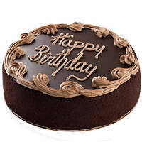 One-of-a-Kind 1 Lb Fresh Chocolate Cake from 3/4 Star Bakery to Baghpat