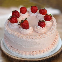 Hankering�s Bliss 1 Lb Strawberry Cake from 3/4 Star Bakery to Barauipur