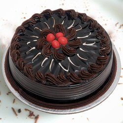 Heavenly Delectable 1 Lb Chocolate Truffle Cake from 3/4 Star Bakery to Guwahati