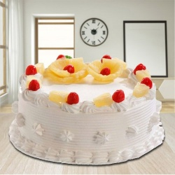 Epitome of Taste 2.2 Lb Eggless Pineapple Cake from 3/4 Star Bakery to New Delhi