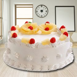 Epitome of Taste 2.2 Lbs Eggless Pineapple Cake from 3/4 Star Bakery to Ahmedabad