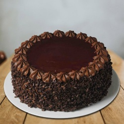 Satisfying 1 Lb Chocolate Flavoured Eggless Cake from 3/4 Star Bakery to Barauipur