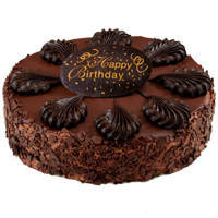 Joy of Birthday Celebration 2.2 Lb Chocolate Cake from 3/4 Star Bakery to Tuticorin