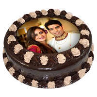 Toothsome Lovers Choice Chocolate Photo Cake to Barauipur