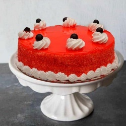 Delicious 1 Lb Red Velvet Cake to Chennai