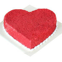 Yummy Red Velvet Cake in Heart-Shape to Bhubaneswar