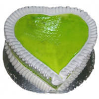 Oven-Fresh Kiwi Cake in Heart-Shaped to Bulandsher