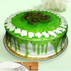 Eggless Kiwi Cake to New Delhi