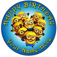 Carefully-Made Minions Cake for Kids to Bhubaneswar