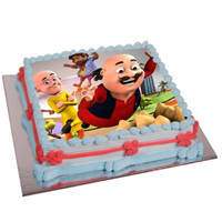 Bakery-Fresh Motu Patlu Photo Cake to Amlapuram