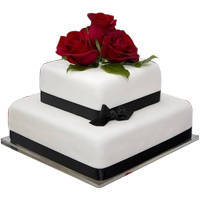 Best  n  Perfect 2 Tier Wedding Cake to Bhubaneswar