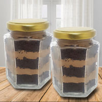 Irresistible Chocolate Jar Cake Set to Ambala