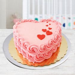 Special Heart Shape Strawberry Cake to Bhimavaram