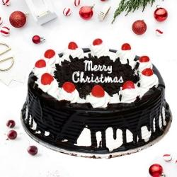 Irresistible Merry Christmas Black Forest Cake to Anand