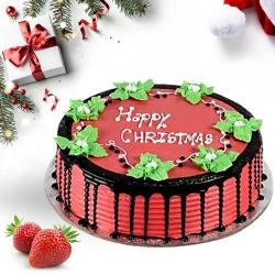 Mouth-Watering Strawberry Cake for X-Mas to Allahabad