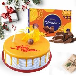 Marvelous Butterscotch Cake N Cadbury Celebrations Pack to Aleppy