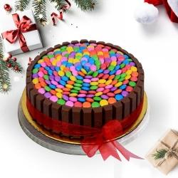 Divine X-mas Gift of KitKat Gems Cake to Allahabad