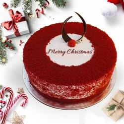 Beautiful Merry_Xmas Red Velvet Cake to Allahabad