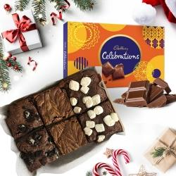 Tempting X-mas Brownies with Cadbury Chocolates to Anand