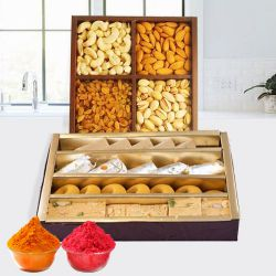 Assorted Dry Fruits with Assorted Sweets to Bhiwani
