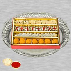 Haldirams Assorted Sweets N Thali with Roli Tilak and Chawal to Adilabad