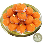 Free Coin with Haldirams Ladoo N Gold Plated Thali Combo to Amarpur