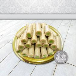 Haldirams Kaju Roll N Gold Plated Thali , Free Coin  to Bombay