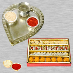 Haldiram Assorted Sweets N Thali with Roli Tilak and Chawal to Anantapur