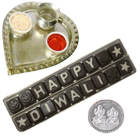 Homemade Assorted Chocolates in Thali with free silver plated coin.  to Hyderabad
