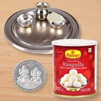 Haldiram Rosgulla N Thali , Free Coin  to New Delhi