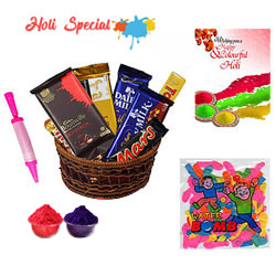 Chocolaty Gulal Surprise Hamper to Adilabad