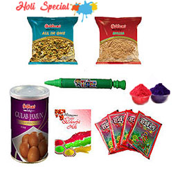 Enjoy with Splash and Splatter Holi Gift Hamper to Aleppy