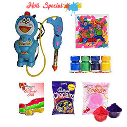 Lets Start the Fun with Doremon Water Gun Holi Hamper to Bally