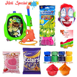 Ben 10 Holi Fun with Chocolates Hamper to Baharampur