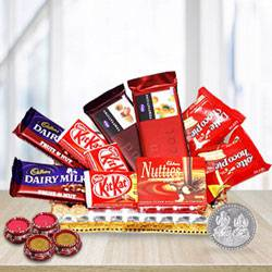 Amazing Chocolate Gifts Hamper with Blessings to Patna